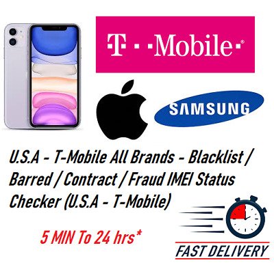 IMEI Status Check Clean/Blacklist/Unpaid Bill for T-Mobile USA only all phones