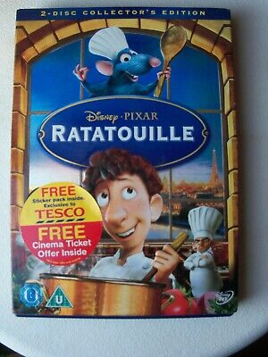 Ratatouille-DVD -cert PG 2 discs Comes complete with post cards FREE POSTAGE