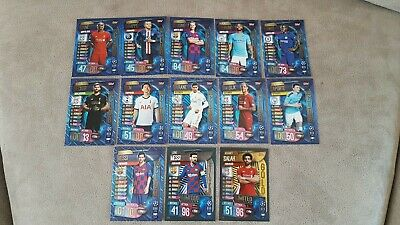 MATCH ATTAX 19/20 Champions League  100 club set  dijk  mbappe son messi silver