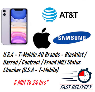 IMEI Status Check Clean/Blacklist/Unpaid Bill for AT&T USA only all phones