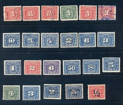 Bengphil Canada Revenue FX52 / FX109 Lot of 23 Excise Tax fiscal Stamps CV$94