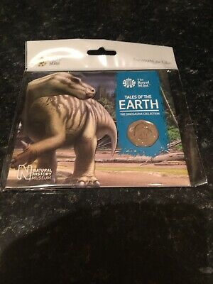 2020 50p dinosaur Iguanodon. A Royal Mint Treasure For Life Pack  A BU Coin