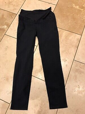H And M Mama Navy Chino Maternity Trousers Size 16