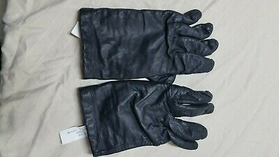 Aris Cashmere Lined Black Leather Gloves Size 7.5