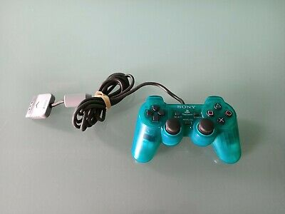 Official Sony Ps1 Playstation 1 Transparent Green Dualshock Controller Good