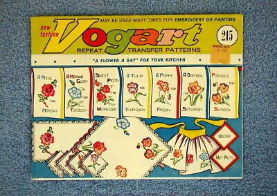 Vogart 215 A flower a Day DOW Vintage Embroidery Transfer