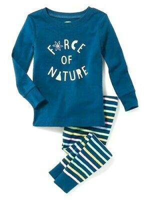 NWT BOYS OLD NAVY PAJAMAS PJS SIZE 3T 2 PIECE SET COLOR OUTSIDE THE LINES