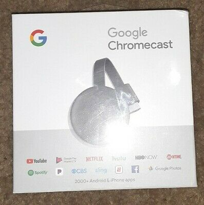 Google Chromecast 2000+ Android & iPhone Apps Brand New SEALED Ships Free