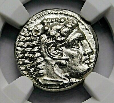 NGC MS 5/5-4/5 Alexander the Great. Stunning Lifetime Drachm. Greek Silver Coin.