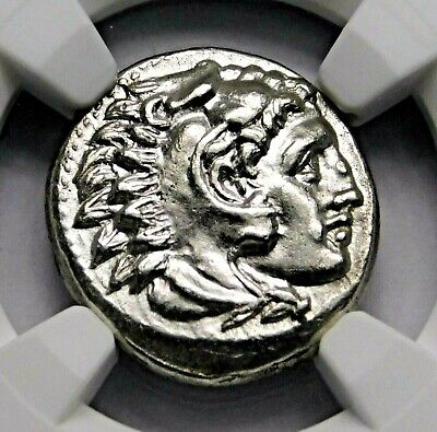NGC MS 5/5-3/5 Alexander the Great. Stunning Lifetime Drachm. Greek Silver Coin.