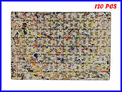 Jackson Pollock - Shimmering Substance Art - 120 Piece Jigsaw Puzzle