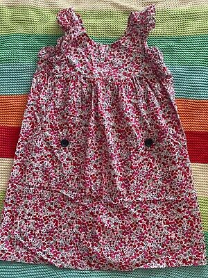Red And Pink Flower Size 6 Milky Dress