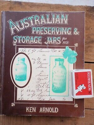 Australian Preserving Jars  illustrated guide book.