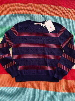 NWT Navy And Red Striped Size 7 Country Road Jumper
