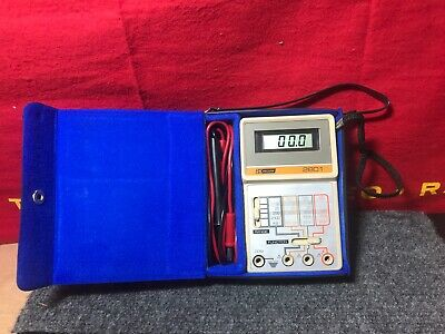BK Precision Multimeter 3 1/2 Digit Model 2801 Tested Working w/leads Case NEW