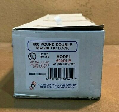 Alarm Controls Corporation 600 Lb Double Magnetic Lock 600Dlb