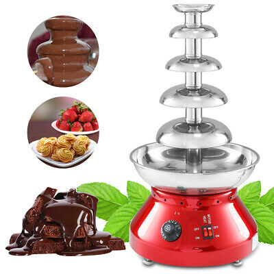 230W Inoxidable 304 Steel 5 niveles Electric Fondue de Chocolate Fuente