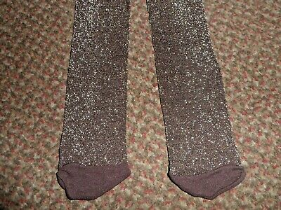 new Girls TU glittery brown party Tights 5-6 YEARS - BNWOT