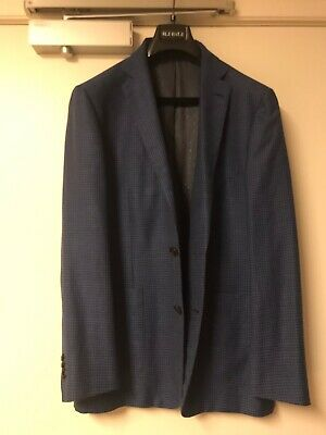 mj bale Mens Navy Checked Blazer Size 44