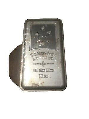 10 Ounce Southern Cross Silver Bar .999 Silver Little Bit Grubby