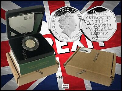 Withdrawal from the European Union 2020 UK 50p Silver Proof Coin