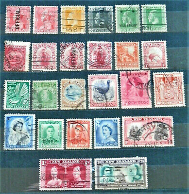 Lot Of 25 Old British Colony Stamps New Zealand Good /Used