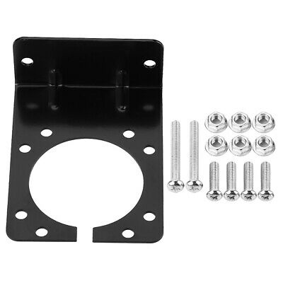 For 7 Pin Trailer Towing Connector Socket Metal Fasten Mount Support Bracket Kit