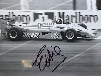 Signed Formula One Photograph Of Eddie Cheever