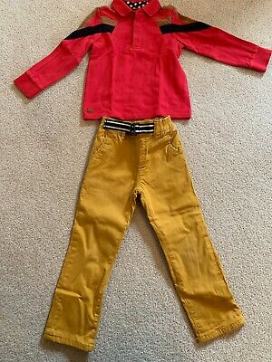 Catamini Age 3 Trousers And Long Sleeved Polo