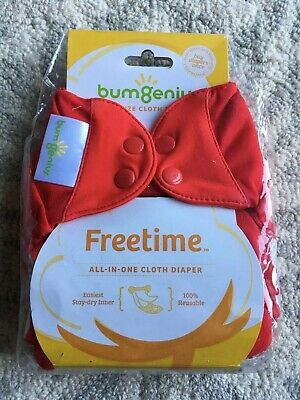 Bumgenius Freetime Pepper All-in-one New NWT