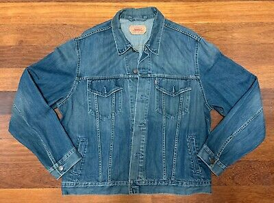Vintage 90's LEVI'S Men's XXL Trucker Jacket Denim Jean Europe Awesome Used Cond