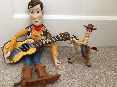 Toy Story Bundle, Talking Woody Guitar RARE, Talking Buzz And More
