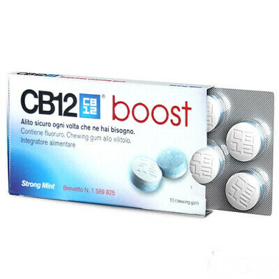 CB12 boost 10 chewing gum strong mint