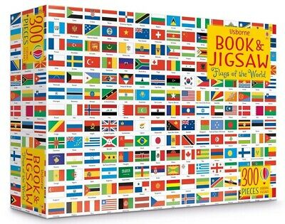 Usborne Flags Of The World Book And Jigsaw Set - 300 Pieces!!!!