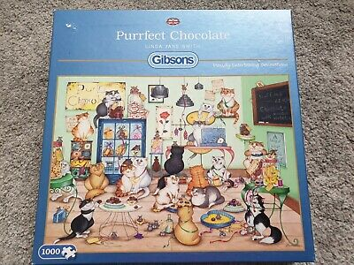 Gibsons 'Purrfect Chocolate' Jigsaw (1000 Piece) Complete