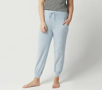 AnyBody Loungewear Womens Pull-On Petite Cozy Knit Jogger Pants Chambray PS Size