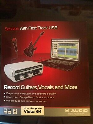 NEW M-audio Session Fast Track Usb - Record Guitar & Vocals