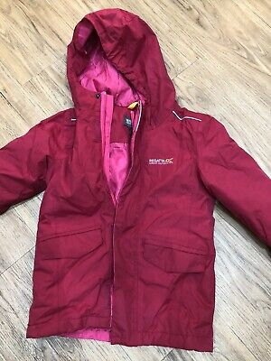 Girls Regatta Pink Quilted Lightweight Coat Jacket Kids Age 3-4 Years New