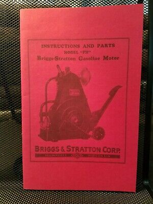Briggs & Stratton Type FH Operating Instructions 1929 Reprint Clean Illustrated