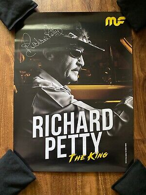 Richard Petty The King Signed Autograph The Courier-Tribune Poster 18x24 Nascar