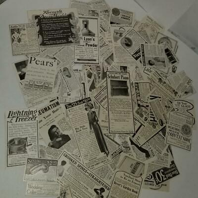 50 antique Ladies Magazine ads 1904-1918 advertising vintage paper clippings Z