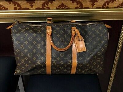 Authentic Louis Vuitton Monogram Keepall 50 Travel Bag - Great Condition!