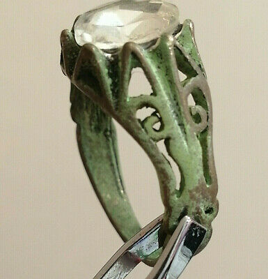 Rare Extremely Ancient Medieval Ring Silvered Amazing Piece.