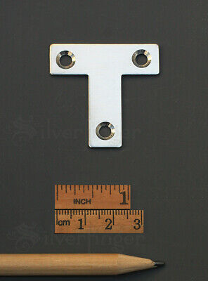 T PLATES Joining Bracket Support Braces Flat Stainless Steel Metal Connectors