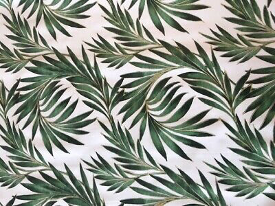Vinyl Pvc Tablecloth Cool Tropical Fern Textile Backed Plastic Wipe Clean (330)