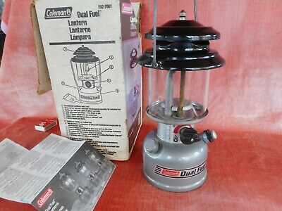 Old Vintage Coleman Dual Fuel Pressure Lantern Lamp Model 282-700T Made In 1998