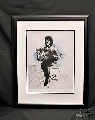 Rolling Stones Mick Jagger Etching Artwork Artist Signed R.Wood 189 of 275 13379