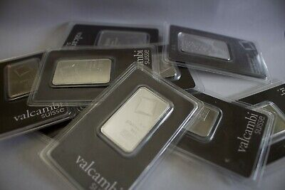 Platinum 1 oz Bar Valcambi Suisse in Assay Fast Shipping Bullion