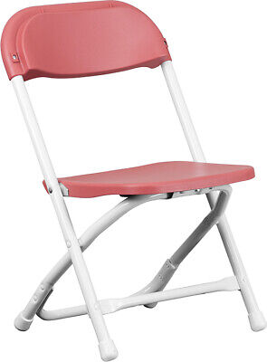 (10 PACK)  Kid's Size Burgundy Plastic Folding Chair