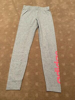 Adidas Girls Grey Tights Size 11-12 Years Great Condition